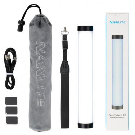 Tube LED NANLITE PavoTube II 6C 10in 6w RGBWW avec batterie interne