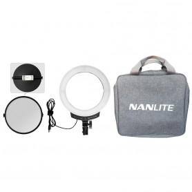 NANLITE Halo 10B Dimmable Bicolor USB 10in LED Ring Light With Smart Touch Control